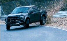 Video: Drifts Nirburgringas trasē ar 450 ZS jaudīgu 'Ford' pikapu