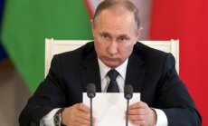 Putins jaunās ASV sankcijas sauc par cinisku savu ekonomisko interešu aizstāvību