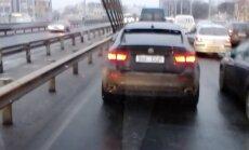 """ВИДЕО: В Риге замечен BMW X6 с номерным знаком """"ССР"""""""