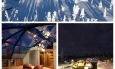 Ideāla vieta ziemas miegam: Somijas luksusa iglu viesnīca zvaigžņu un ziemeļblāzmas vērošanai