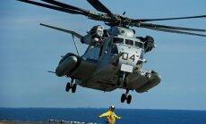 Skolas teritorijā Japānā nokritis ASV helikoptera logs ievainojis skolēnu