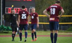 'Jelgavas' futbolisti kompensācijas laikā piekāpjas 'Riga' komandai