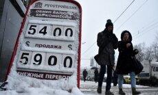 Krievija glābjas no rubļa devalvācijas: Centrālā banka pamatīgi paaugstina bāzes procentu likmi