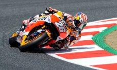 Pedrosa izcīna pirmo starta pozīciju 'MotoGP' Katalonijas posmā