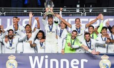 Real Madrid winning the UEFA Super Cup
