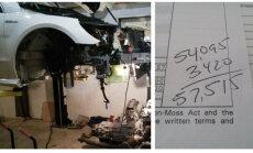 Foto: Lietota 'Mercedes' dzinēja remonts dārgāks nekā jauns 'Porsche'