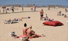 Ūdens temperatūra sestdienas rītā jūrā no +18 līdz +24 grādiem
