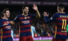 'Barcelona' un 'Bayern' ar uzvarām sāk UEFA ČL ceturtdaļfinālu