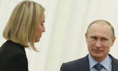 Mogerīni aicina Putinu radikāli mainīt savu attieksmi