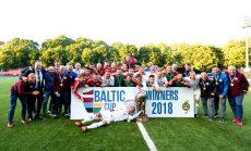 Latvijas futbola izlase ceturto gadu pēc kārtas izcīna Baltijas kausu