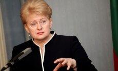 Grībauskaite: EK dod Kremlim signālu, ka 'Gazprom' vairs nevarēs lietot kā politiskās un ekonomiskās šantāžas ieroci