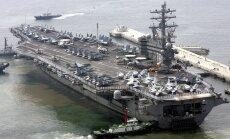 ASV uz Koreju nosūta otru aviācijas bāzes kuģi 'USS Ronald Reagan'