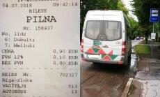 'Mikriņa' vadītājs pasažierei neizsniedz biļeti; uzņēmumā taisnojas – sajaukta tarifu zona