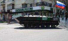 Ziņo par pamatīgi bruņotas kolonnas iebraukšanu Ukrainā no Krievijas puses