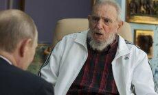 Putins apsveic 'dārgo draugu' Fidelu Kastro 90 gadu jubilejā