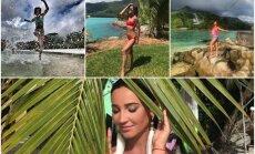 Krāšņi foto: Olgas Buzovas smalkā atpūta Seišelu salās
