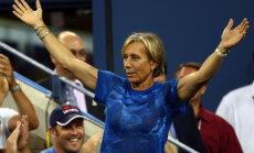 Navratilova: drīz tenisistus no laukuma nesīs nost uz nestuvēm, ja nekas nemainīsies
