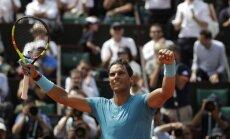 Nadals atkārto pavisam svaigu Džokoviča rekordu un 12. reizi iekļūst 'French Open' ceturtdaļfinālā