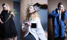 Foto: Zīmola 'Zīle' jaunā apģērbu kolekcija no otrreizēji izmantotiem audumiem