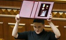 Ukraiņu drošībnieki par teroraktu gatavošanu aiztur Savčenko