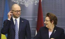 Straujuma: Baltijas valstis ir solidāras ar Ukrainu un iestāsies par tās vienotību