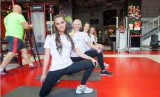 Foto: Latvijas skaistākie jaunieši svīst sporta zālē