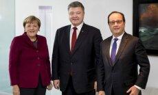 'Normandijas četrinieks' vienojas izstrādāt ceļa karti Minskas miera līgumu īstenošanai