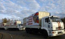 Krievijas 'humānais konvojs' ieradies Doņeckā