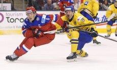 МЧМ: незасчитанный гол не позволил россиянам обыграть шведов (ВИДЕО)