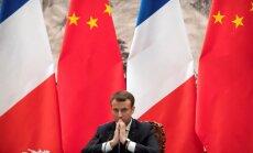 Makrons mudina Eiropu būt vienotai pret Ķīnas ietekmes pieaugumu