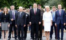 Foto: Itālijas prezidents un viņa meita apmeklē Latviju