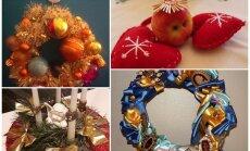Krāšņi un asprātīgi – 'Delfi' lasītāju adventes laika dekori un vainagi fotoattēlos