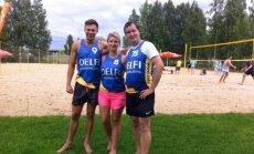 'Delfi' izcīna otro vietu Mediju kausā pludmales volejbolā
