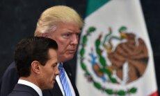 Tramps Meksikā: ASV ir tiesības celt mūri uz robežas