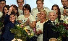 Polijā eiroskeptiskā 'Likums un taisnīgums' pārliecinoši uzvar parlamenta vēlēšanās