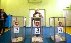 Krimas referendums plaši apmeklēts; ļauj balsot arī Krievijas pilsoņiem (plkst.17.56)