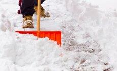 Bauskā sniega segas biezums sasniedz 14 centimetrus