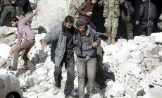Krievijas gaisa triecienos 'Al Nusra' cietumam Sīrijā 57 bojāgājušie