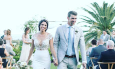 Foto: Publicēti foto no peldētāja Felpsa kāzām