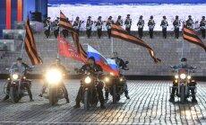 'Putina baikeru' karogs nogādāts kosmosā