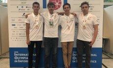 Latvijas skolēni izcīnījuši četras bronzas medaļas Pasaules Informātikas olimpiādē