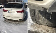 Foto: Jaudīgs 'BMW X5' ar 'plikām' riepām