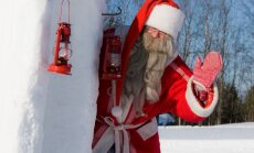 Foto: Ciemos pie Ziemassvētku vecīša Somijā