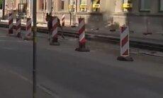 Video: Liepājas centrā iemaldās alnis