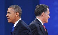 Obama un Romnijs pēdējās debatēs strīdas par ārpolitiku