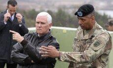 ASV viceprezidents apmeklējis Ziemeļkorejas un Dienvidkorejas robežu