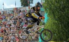 BMX braucējs Veide Eiropas kausa posmā izcīna septīto vietu