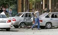 Pirmdienas sprādzienu Groznijā izraisījuši divi pašnāvnieki