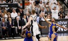 Bertānam teicams 'slam dunk'; 'Spurs' nonāk viena zaudējuma attālumā no sezonas beigām