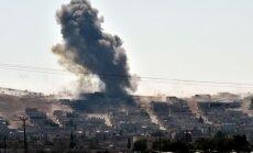 Starptautiskā koalīcija veic desmit uzlidojumus pa 'Islāma valsts' pozīcijām
